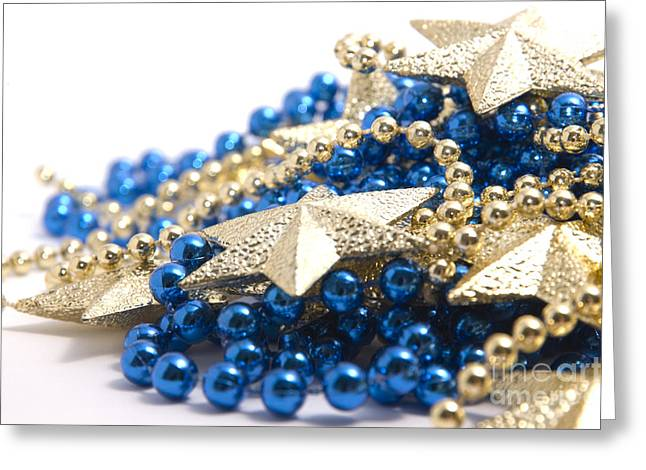 Beads And Stars Greeting Card by Andy Smy