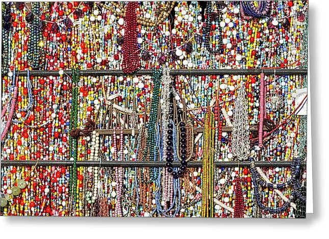 Beads In A Window Greeting Card