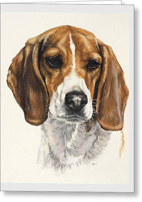 Beagle Greeting Card by Barbara Keith