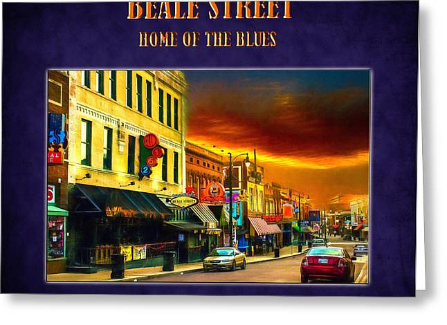 Beale Street - Home Of The Blues Greeting Card