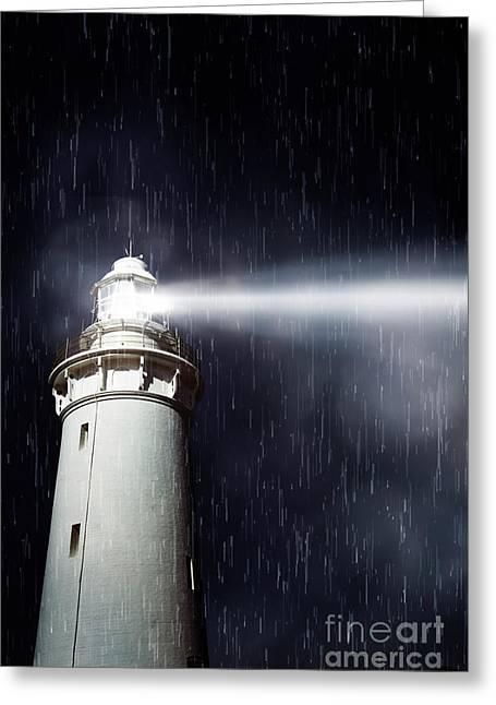Beaming Lighthouse Greeting Card