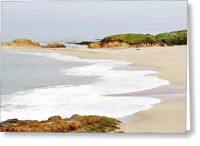 Bean Hollow State Beach Greeting Card by Art Block Collections