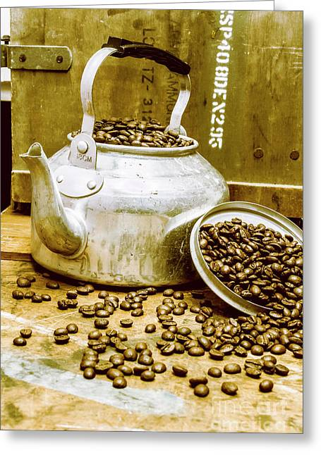 Bean Shop Cafe Greeting Card by Jorgo Photography - Wall Art Gallery