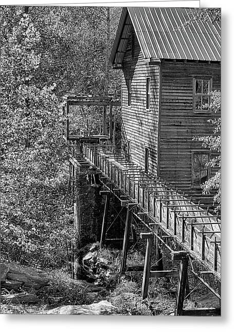 Bean's Gristmill In Black And White Greeting Card