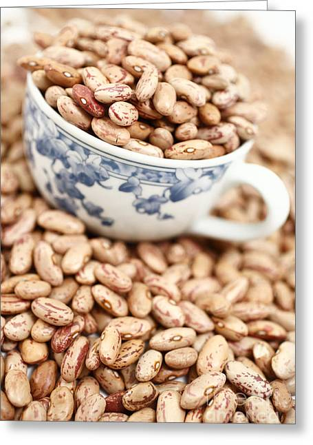 Beans In A Cup Greeting Card by Gaspar Avila