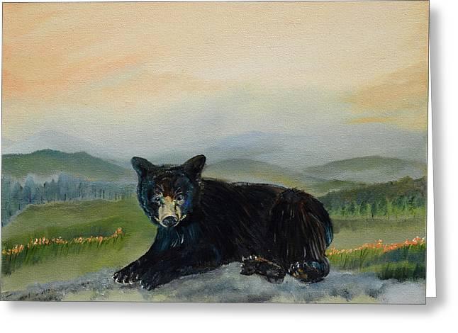 Bear Alone On Blue Ridge Mountain Greeting Card