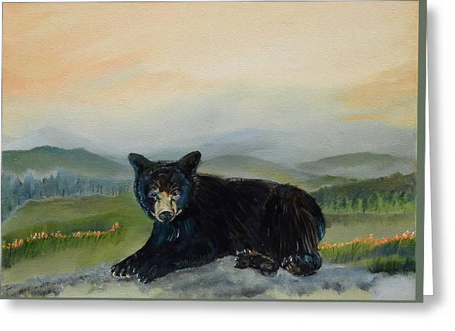 Bear Alone On Blue Ridge Mountain Greeting Card