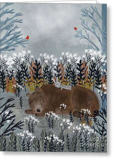 Bear And Bunny Greeting Card