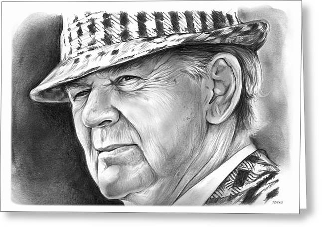 Bear Bryant 2 Greeting Card by Greg Joens