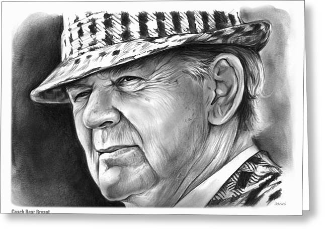 Bear Bryant Greeting Card by Greg Joens