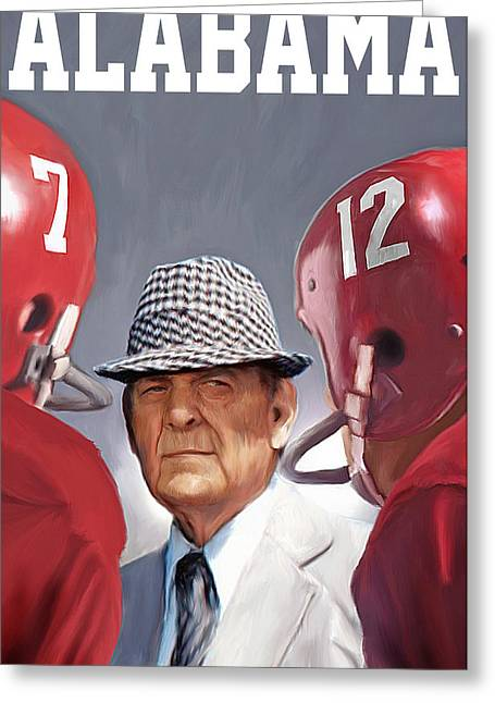 Bear Bryant Greeting Card by Mark Spears