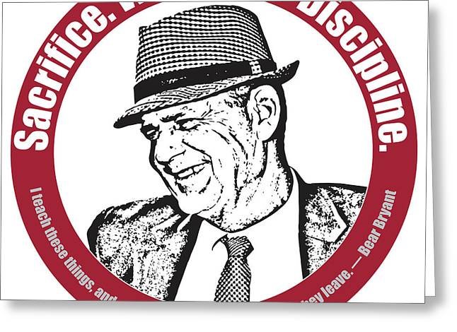 Bear Bryant Quote Greeting Card by Greg Joens