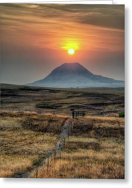 Bear Butte Smoke Greeting Card