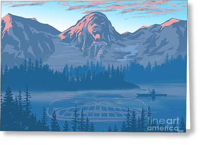 Bear Country Scenic Landscape Greeting Card