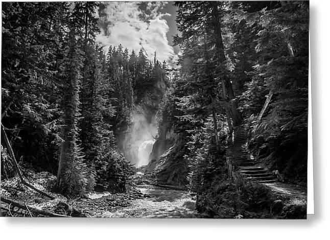 Bear Creek Falls As Well Greeting Card