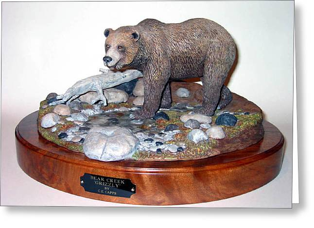 Bear Creek Grizzly Greeting Card by Carl Capps