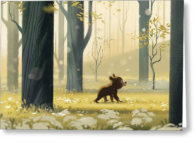 Bear Cub In The Trees Greeting Card