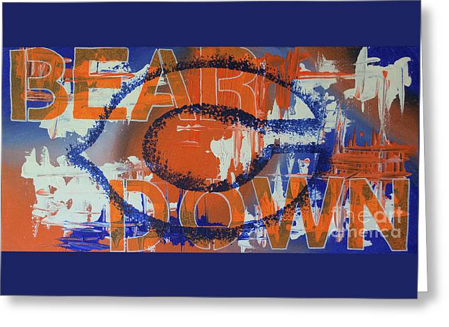 Bear Down Greeting Card by Melissa Goodrich