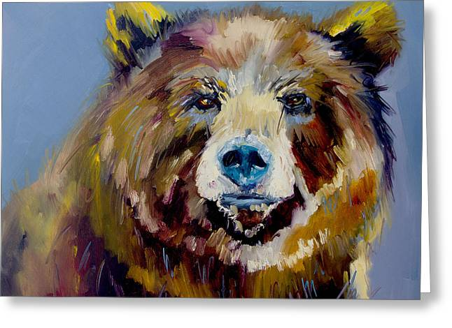 Bear Exposed Greeting Card