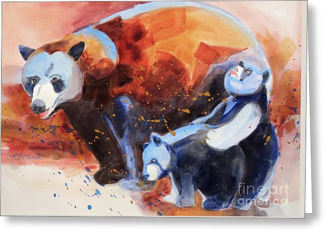 Bear Family Outing Greeting Card by Kathy Braud