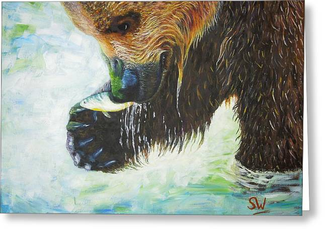 Bear Fishing Greeting Card
