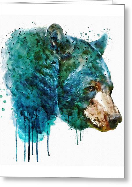 Bear Head Greeting Card