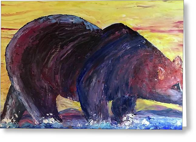 Bear Hot Summer  Greeting Card