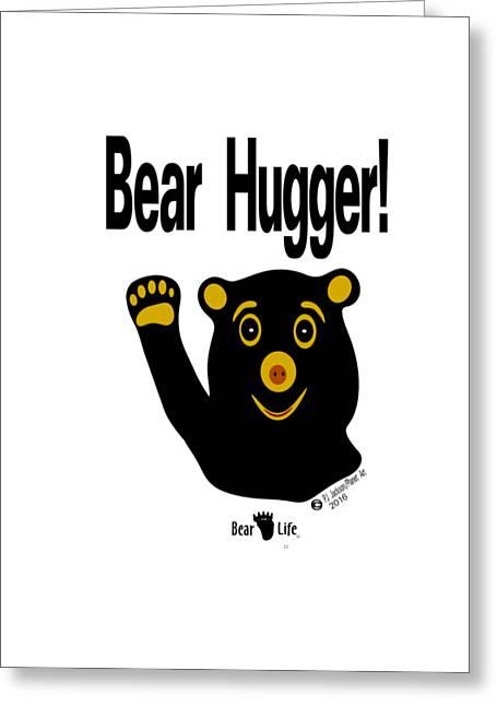 Bear Hugger Greeting Card