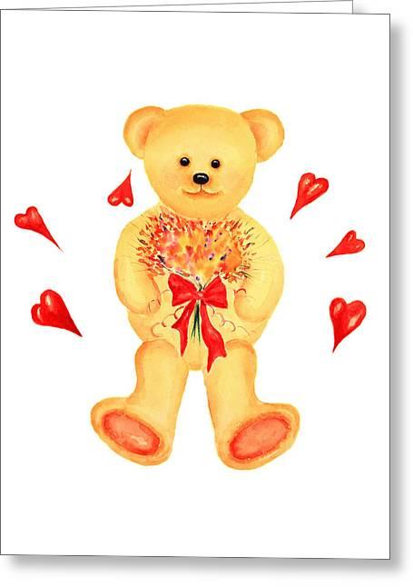 Bear In Love Greeting Card