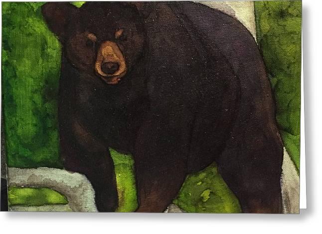 Bear In Tree Greeting Card