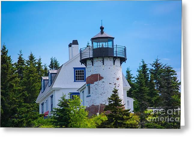 Bear Island Lighthouse, Maine. Greeting Card