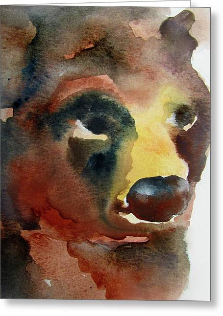 Bear Greeting Card by James Huntley