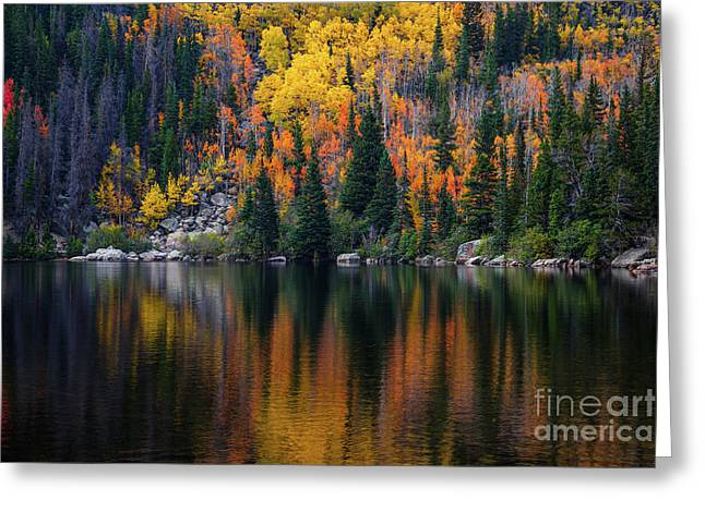 Bear Lake Autumn Reflections Greeting Card