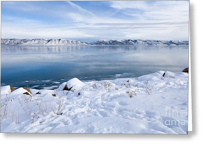 Greeting Card featuring the photograph Bear Lake Beauty Large Canvas Art, Canvas Print, Large Art, Large Wall Decor, Home Decor by David Millenheft