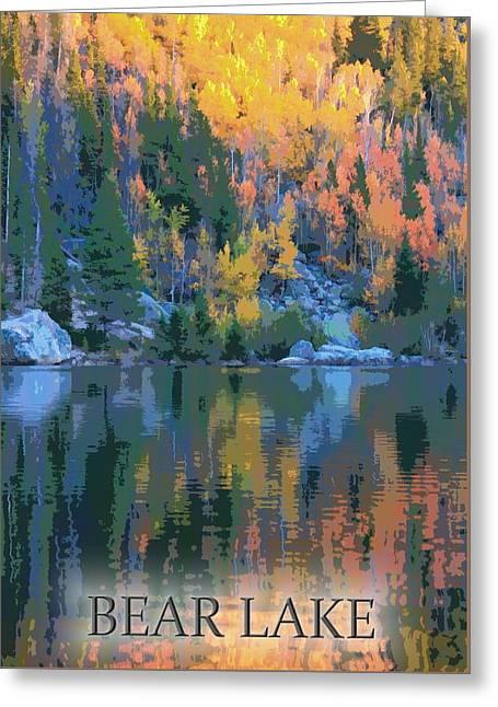 Bear Lake Colorado Poster Greeting Card by Dan Sproul
