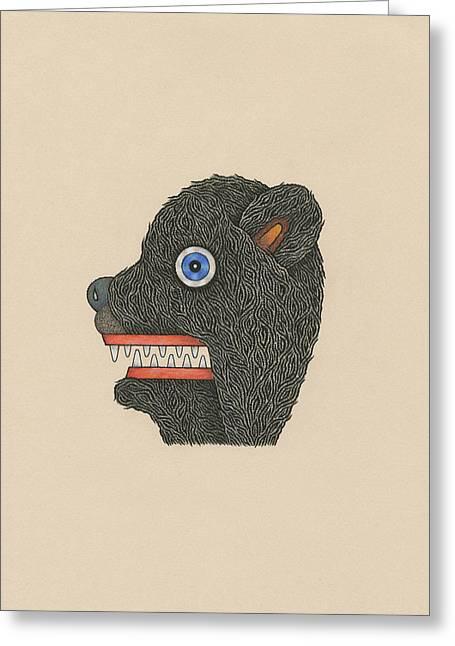 Bear Mask Greeting Card by Matt Leines