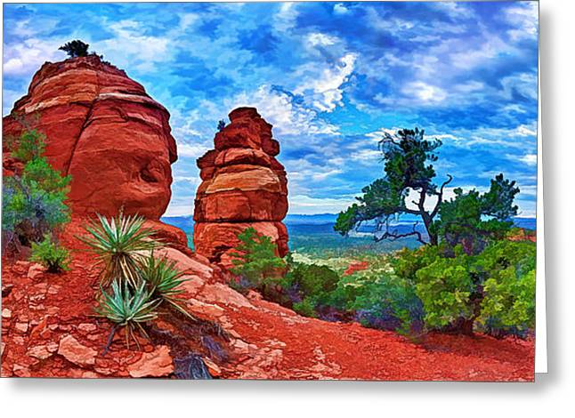 Colorful Cloud Formations Greeting Cards - Bear Mountain Hoodoo 3 Greeting Card by Bill Caldwell -        ABeautifulSky Photography