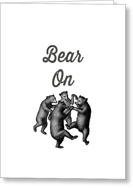 Bear On Greeting Card by Edward Fielding