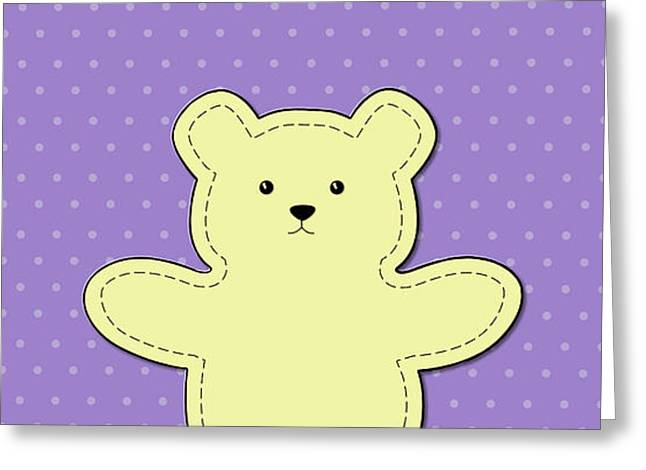 Bear Purple Pattern  Greeting Card