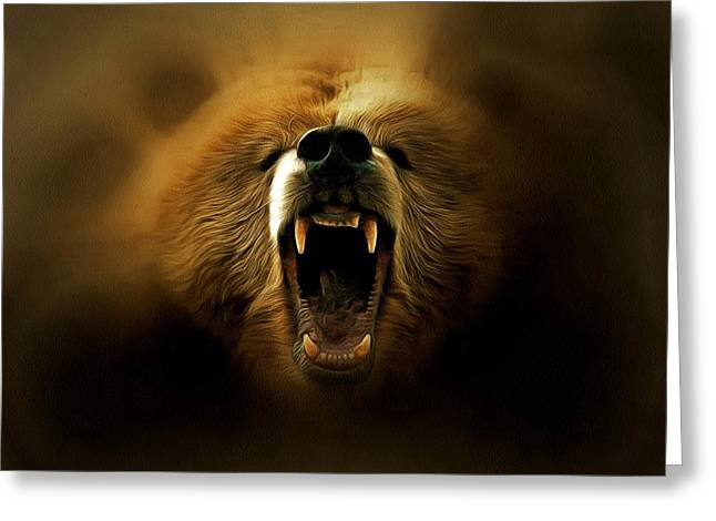Bear Roar Greeting Card