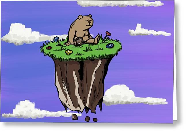 Bear Rock Greeting Card