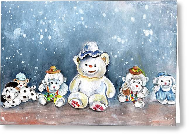 Bear-sur-ciel Greeting Card by Miki De Goodaboom