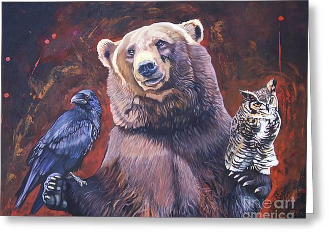 Bear The Arbitrator Greeting Card