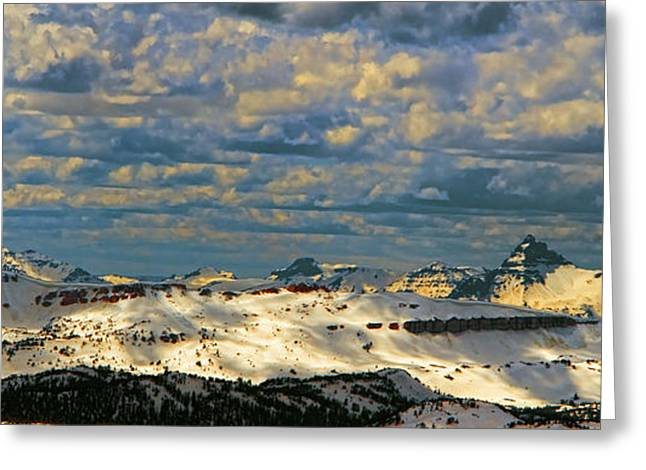 Bear Tooth Mountain Range Greeting Card