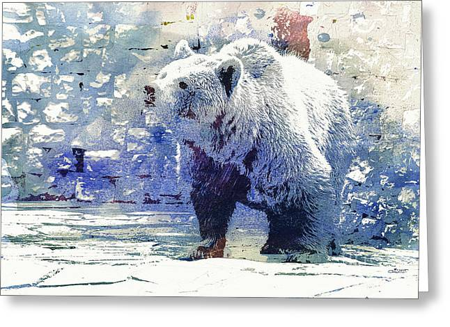 Bear Walk Greeting Card by Jutta Maria Pusl