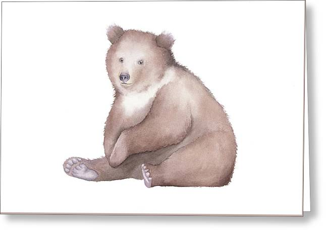 Bear Watercolor Greeting Card