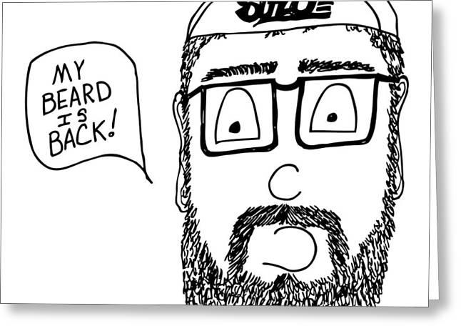 Beard Comic Greeting Card by Karl Addison