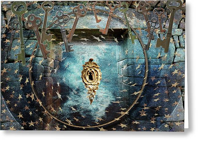 Greeting Card featuring the digital art Bearer Of The Keys by Louise Roach