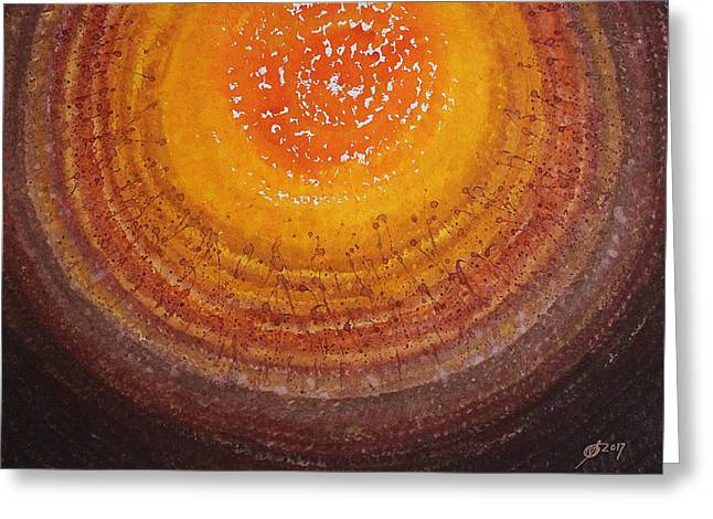 Beargrass Halo Original Painting Greeting Card by Sol Luckman