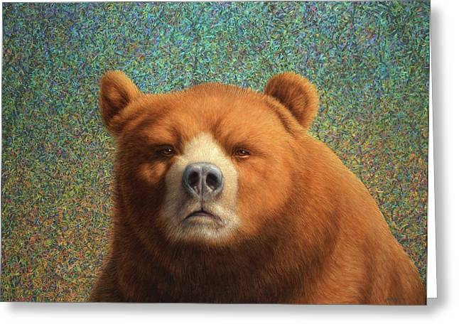 Bearish Greeting Card by James W Johnson